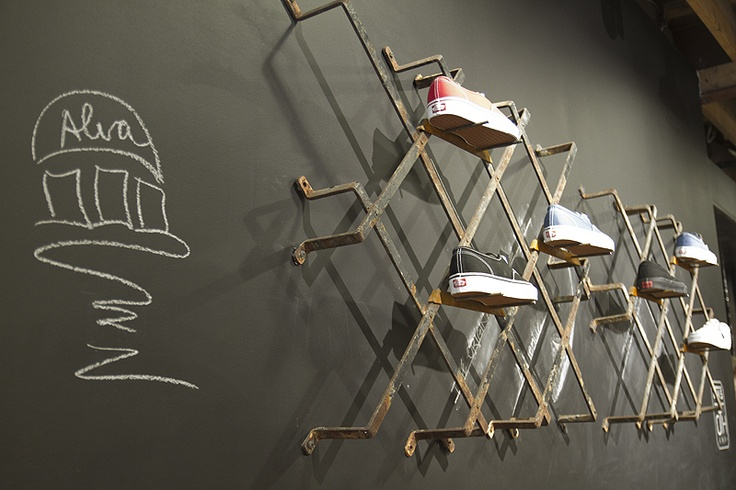 Cool store shoe display display inspiration pinterest for Sneaker wall display