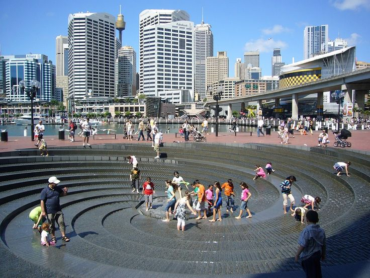 Darling Harbour Fountains, Sydney, Australia