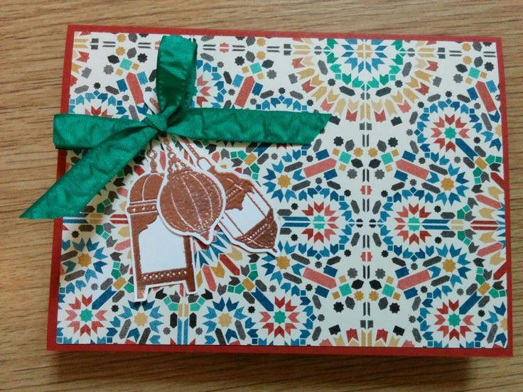 Copper Moroccan Nights Lamps - Het Knutsellab - Stampin Up #stampinup #crafts #knutselen #stempelen