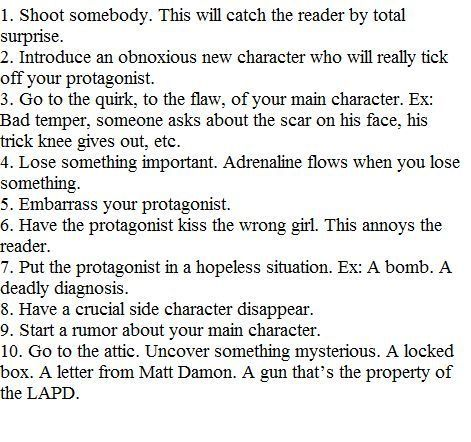 These are writing prompts but I swear, almost all of these happened in the Percy Jackson books at some point.