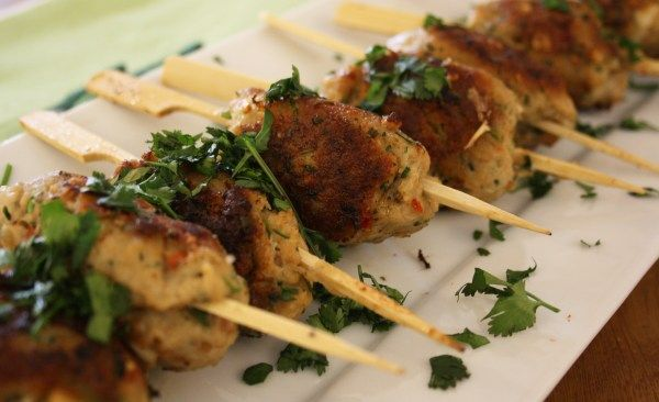 Asian Pork Koftas.This dish is embarrassingly easy and is lower in fat than you would expect. Of course, it is another accidental dish. We were having a tagine with leftover roast lamb and I …