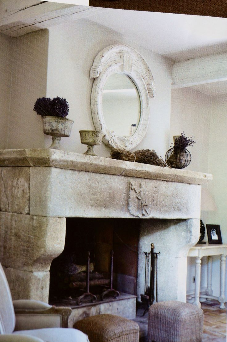 Fireplace. John L. could put his master stone mason skills to work on something like this.