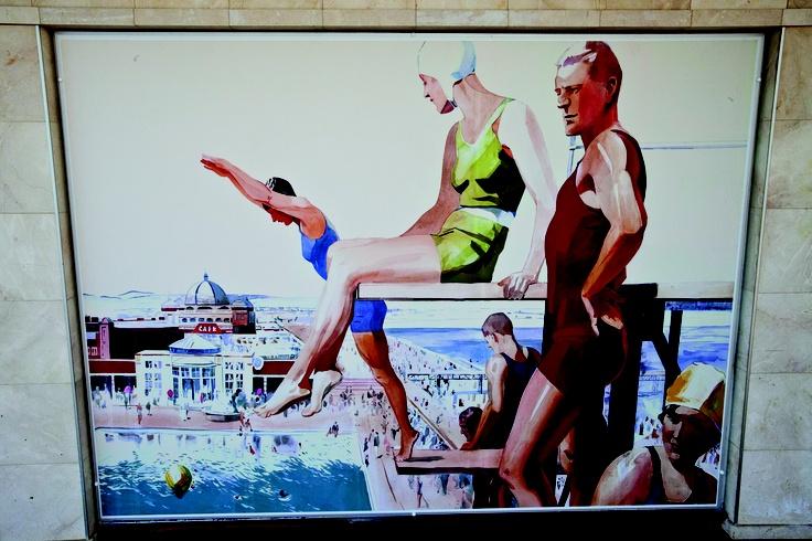 It's all about the British seaside on-board Saga Sapphire  #Interiors #Art #Cruise #ClassicCruising