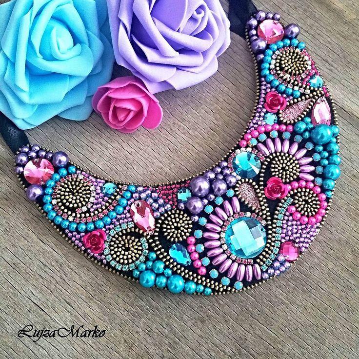 Lila náhrdelník