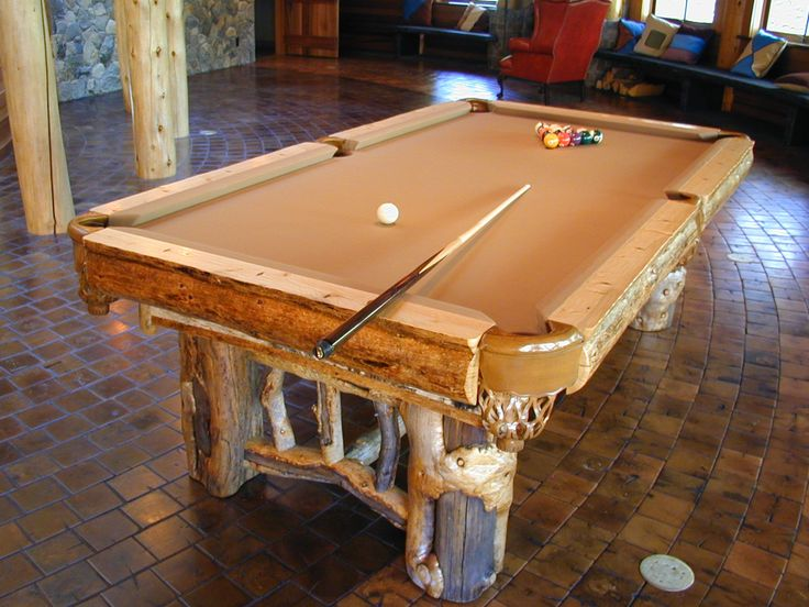 Aspen Log Pool Table