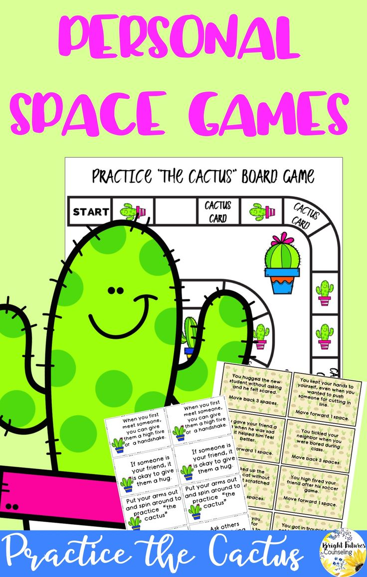 Help students learn personal space by practicing the cactus with these fun games!