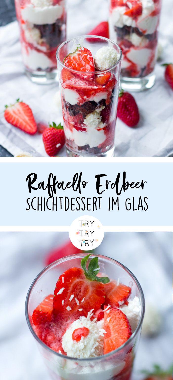 Erdbeer-Schicht-Dessert mit Raffaello