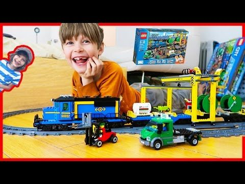 Lego City Train Set with Backhoe and Crane | Heavy Haul Time Lapse Build! - YouTube