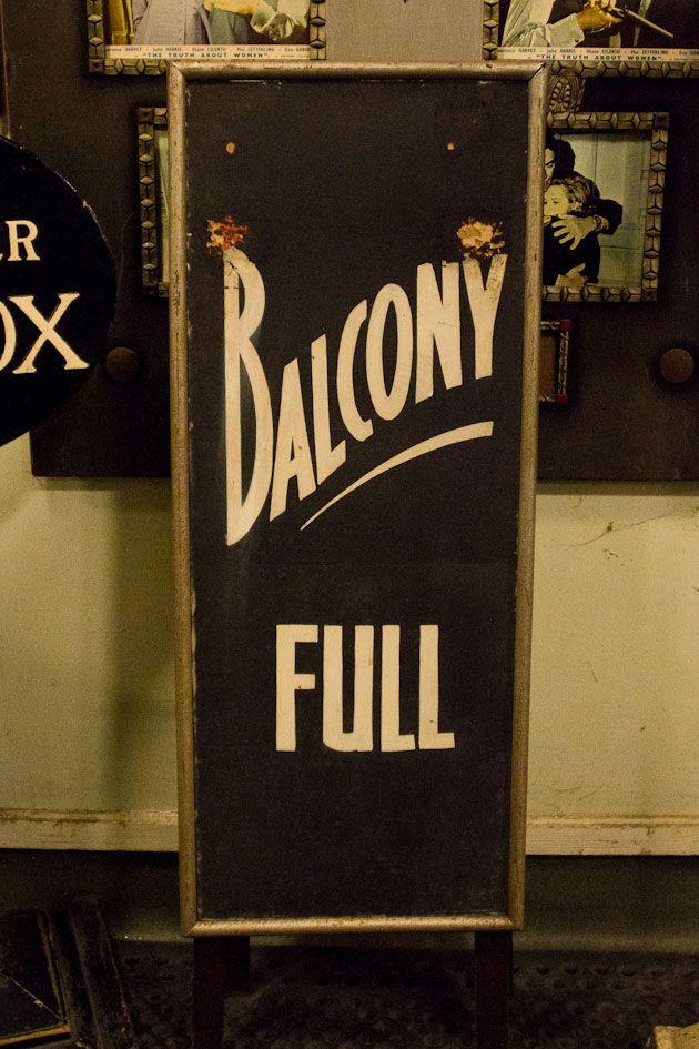 balcony full sign