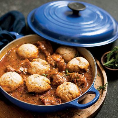 Oxtail stew with dumplings