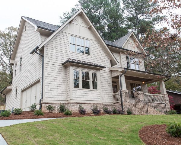 Painted shake siding bronze metal roof and dark gutters like the gable trim detail k and h - Metal exterior paint model ...