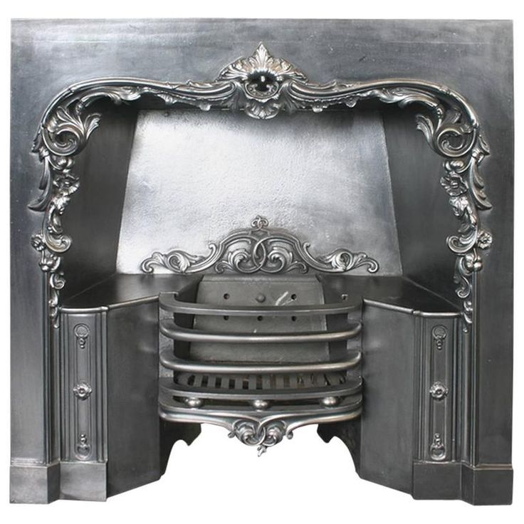 Reclaimed 19th Century William IV Cast Iron Grate | From a unique collection of antique and modern fireplace tools and chimney pots at https://www.1stdibs.com/furniture/building-garden/fireplace-tools-chimney-pots/