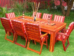 Rhodesian Teak outdoor table for sale without cushions chairs included R10999.00 CONTACT 0788385826
