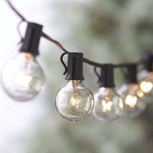 String Lights Vintage Backyard Patio Clear Globe Wedding Party Outdoor Use 25FT #StringLights