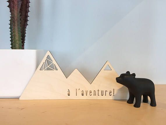 Mountain  Wood Decorative Accent  Home Decor  Decorative