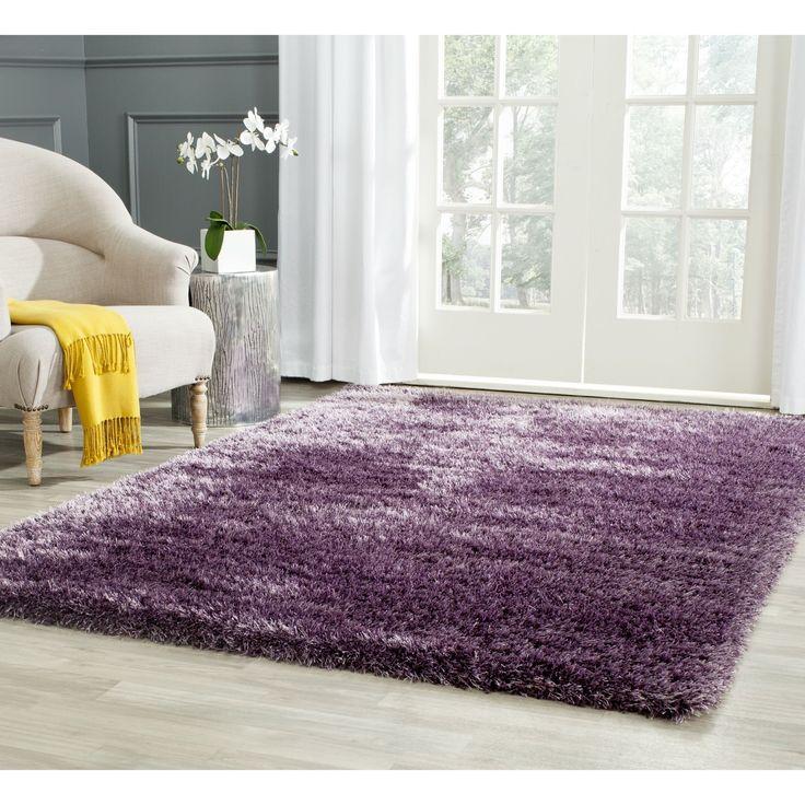 safavieh charlotte shag lavender plush polyester rug x purple