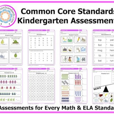Kindergarten Common Core Assessments $19 as a downloadable workbook