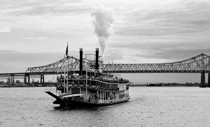 Natchez River Boat. New Orleans and the Mississippi River