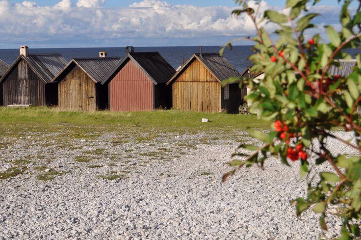 Höst vid Helgumannens fiskeläge, Fårö.