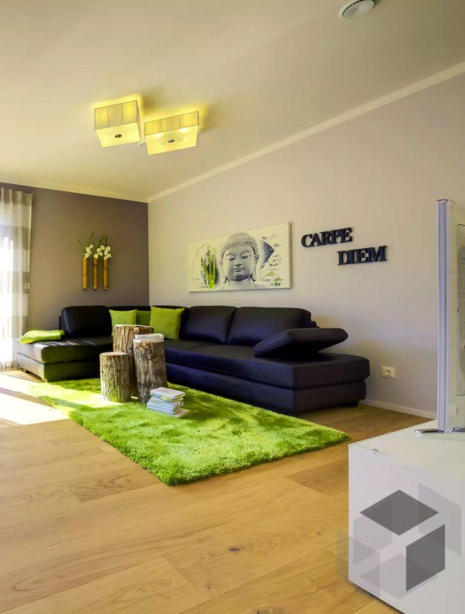 Wohnzimmer Impression Aus Einem Haas Haus ➤ Auf Der ___ Fertighaus.de ___  Webseite Findest Du Eine Große Auswahl An Häusern Verschiedener Stile Und  Von ...