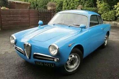 Automobilhersteller : Alfa Romeo Modell: Guiletta Sprint 750B Bertone Jahr: 1954-1958 Art: Coupe
