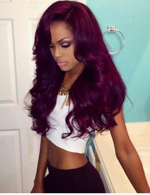 Swell 1000 Images About Black Girls Purple Hair On Pinterest Deep Short Hairstyles For Black Women Fulllsitofus