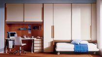 Contemporary wardrobe / wooden / with swing doors / bridge
