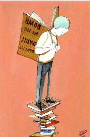 Disposat a llençar-se per la lectura; il·lustració d'Edwina White