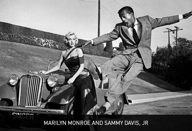 Marilyn Monroe and Sammy Davis Jr