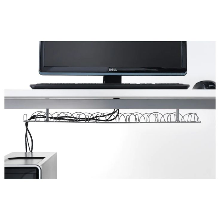 Signum Cable Trunking Horizontal Silver Colour Ikea In 2020 Cable Management Cable Management Desk Ikea