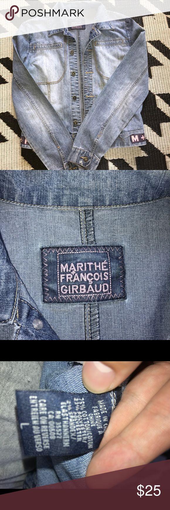 Womens denim jacket Marithe Francois Girbaud Nice women's denim jacket in great shape. Size large. Marithe Francois Girbaud Jackets & Coats Jean Jackets