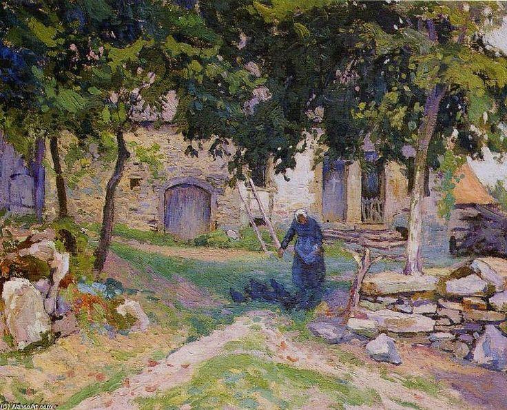 La Cour De Ferme de Paul Madeline (1863-1920, France)
