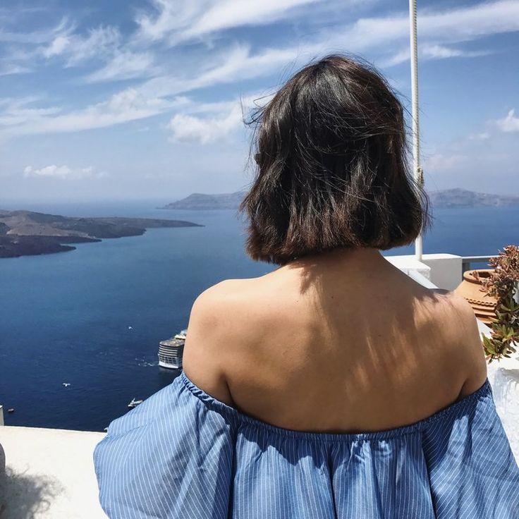 We Wore: Grecian Blue & White — ally https://www.allyblog.com/home/grecian-blue Santorini Greece island fashion bloggers style summer