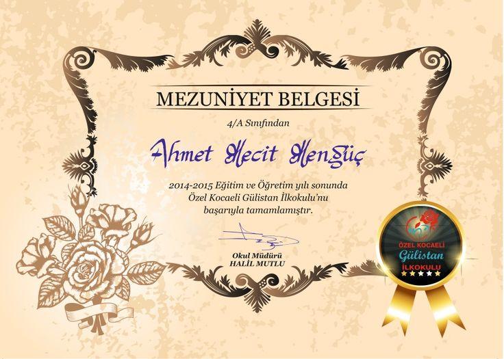 #mezuniyet #belge #diploma #gulistancocuk