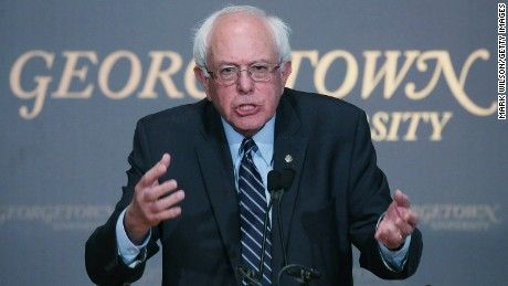 """Bernie Sanders tied himself to Democratic hero Franklin D. Roosevelt and Martin Luther King Jr. Thursday in a long-awaited speech in which he argued that """"democratic socialism"""" is no different than many things already woven in the fabric of the nation."""