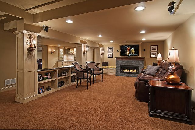 Finished basement home spaces styles pinterest - Finish my basement ideas ...