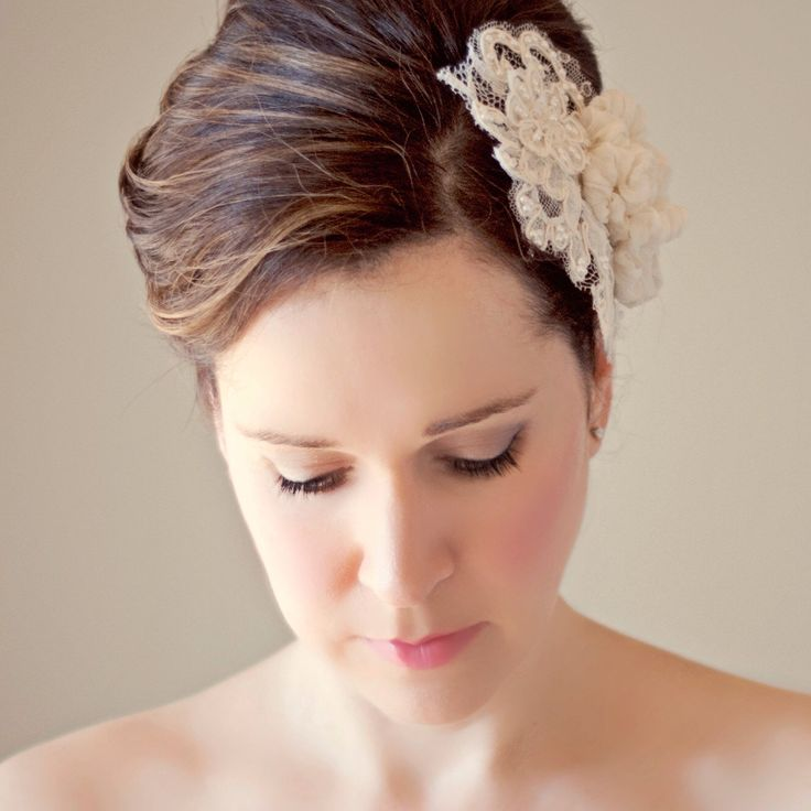 Wedding Lace Hairpiece with Silk Flowers Bridal Head Piece Wedding Hair Accessory Pearl Beaded Lace Haircomb Classic Wedding Headpiece by ForeverHookedBridal on Etsy https://www.etsy.com/listing/184662175/wedding-lace-hairpiece-with-silk-flowers