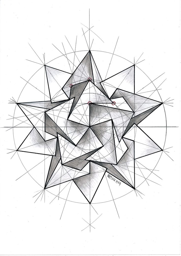 #polyhedra #solid #geometry #symmetry #pattern #handmade #mathart #regolo54 #Escher #structure #pentagon