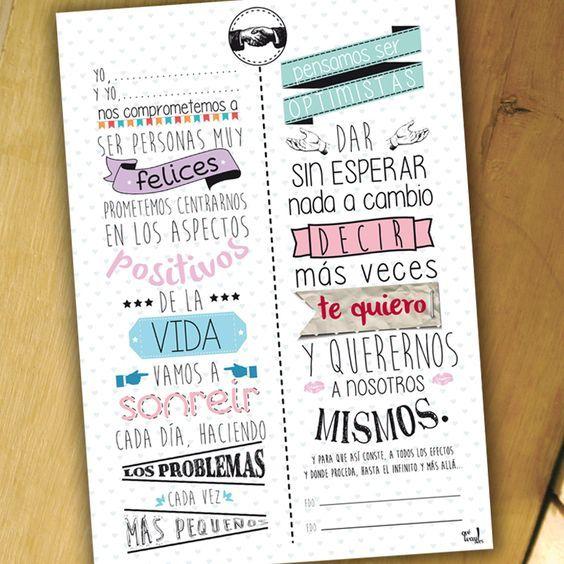 Lámina contrato para enamorados. Uno de los artículos incluido en nuestro kit de enamorados que también puedes comprar suelto. Ya disponible en: www.queway.es