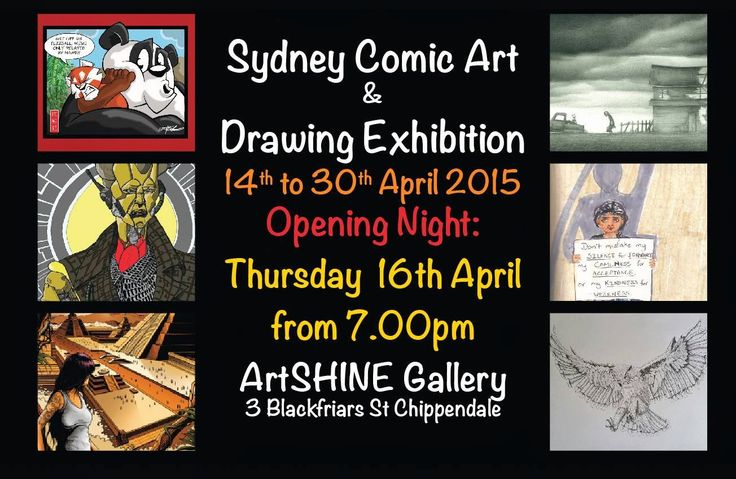 James Mathurin Art: Sydney Comic Art and Drawing Exhibition