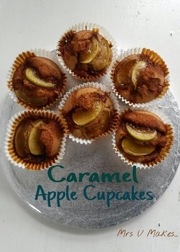Mrs U Makes...: Caramel Apple Cupcakes @MrsUMakes