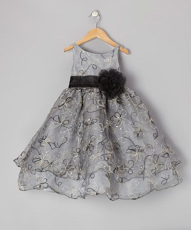 Black Floral Embroidered Tier Dress - Infant, Toddler & Girls by Sophia Young on #zulily