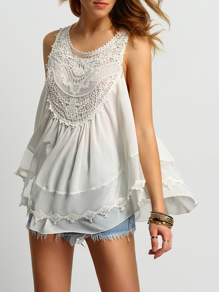 Shop White Crochet Tank Top With Buttons online. SheIn offers White Crochet Tank Top With Buttons & more to fit your fashionable needs.