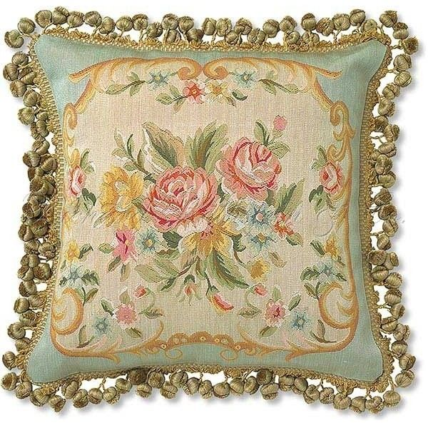 French Tapestry Aubusson Pillow - eclectic - pillows - - by... ❤ liked on Polyvore