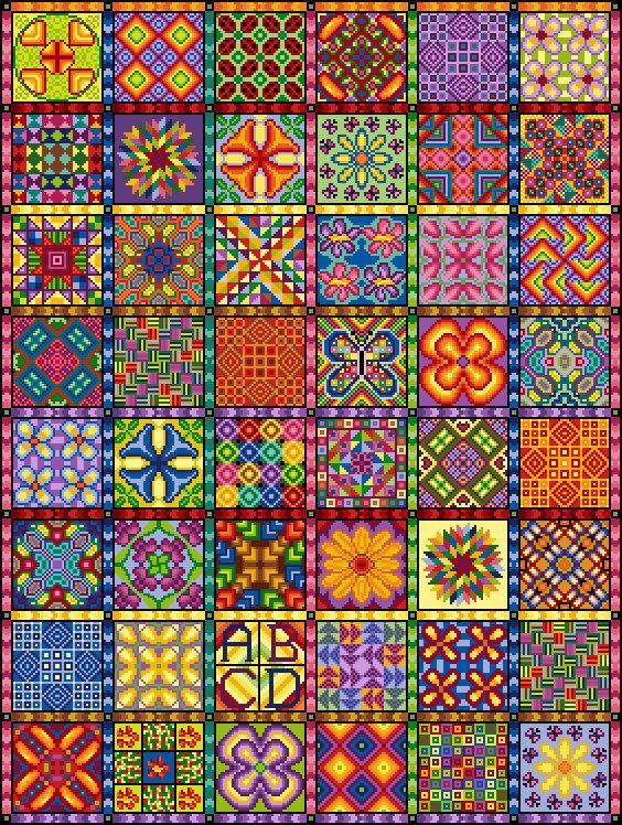 2014 CHALLENGE QUILT Cross Stitch COMPLETE by PurplePatchDesign