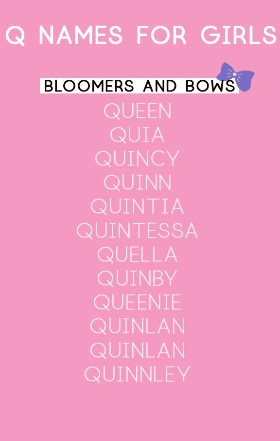 Girl Names That Start With Q In 2020 Girl Names Baby Names