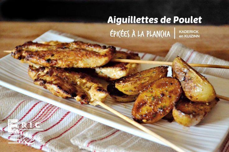 Aiguillettes de poulet aux épices à la plancha et ses potatoes mexicaines