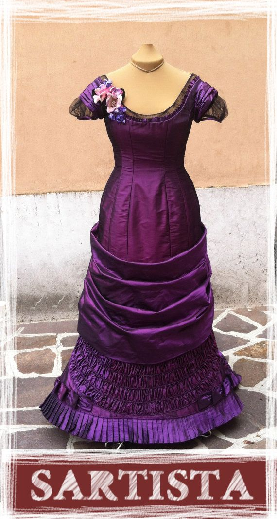 1880 Victorian evening dress by SARTISTAcostumes on Etsy