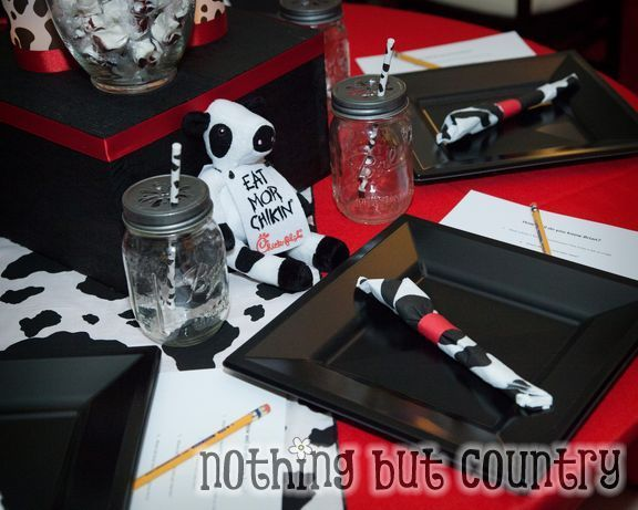 Table at a Chik-fil-A party
