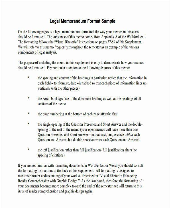 Sample Legal Memo Format In 2020 Memo Template Executive